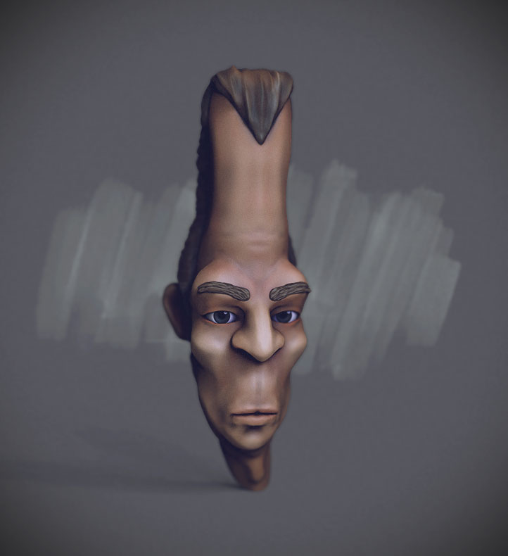 long head character sculpt in zbrush