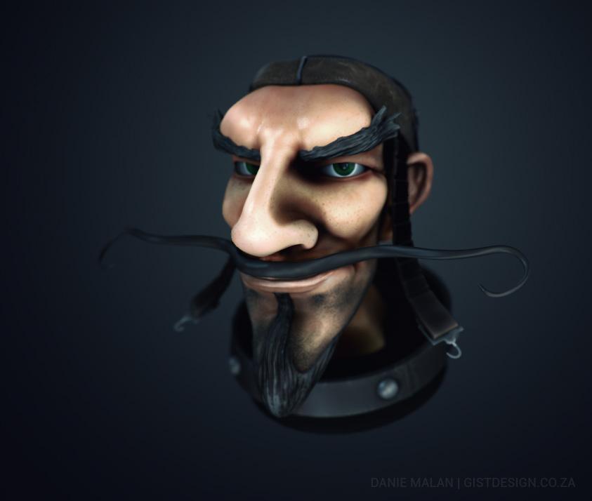 Pilot bust sculpt