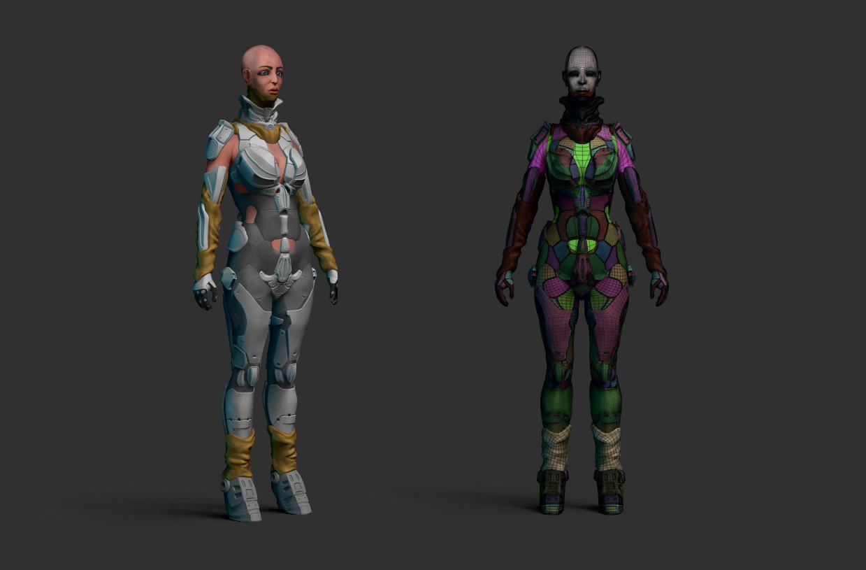 Zbrush scifi suite details