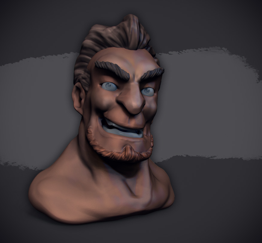 male face sculpt