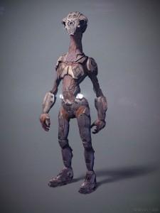 Mech design of scout alien