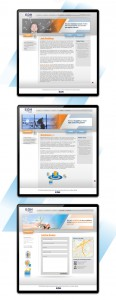 Web page design for company