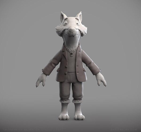 fox character zbrush sculpt