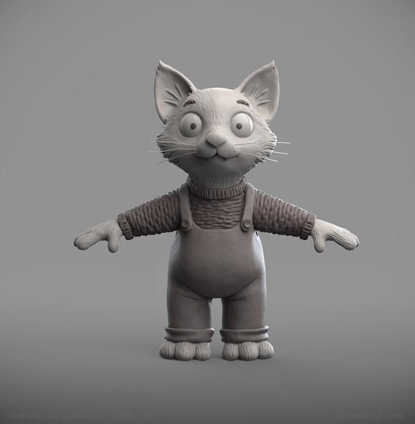kitten character sculpt