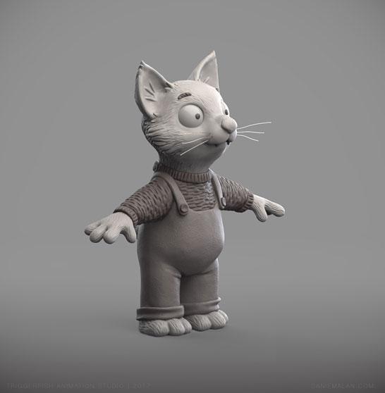 kitten zbrush sculpt