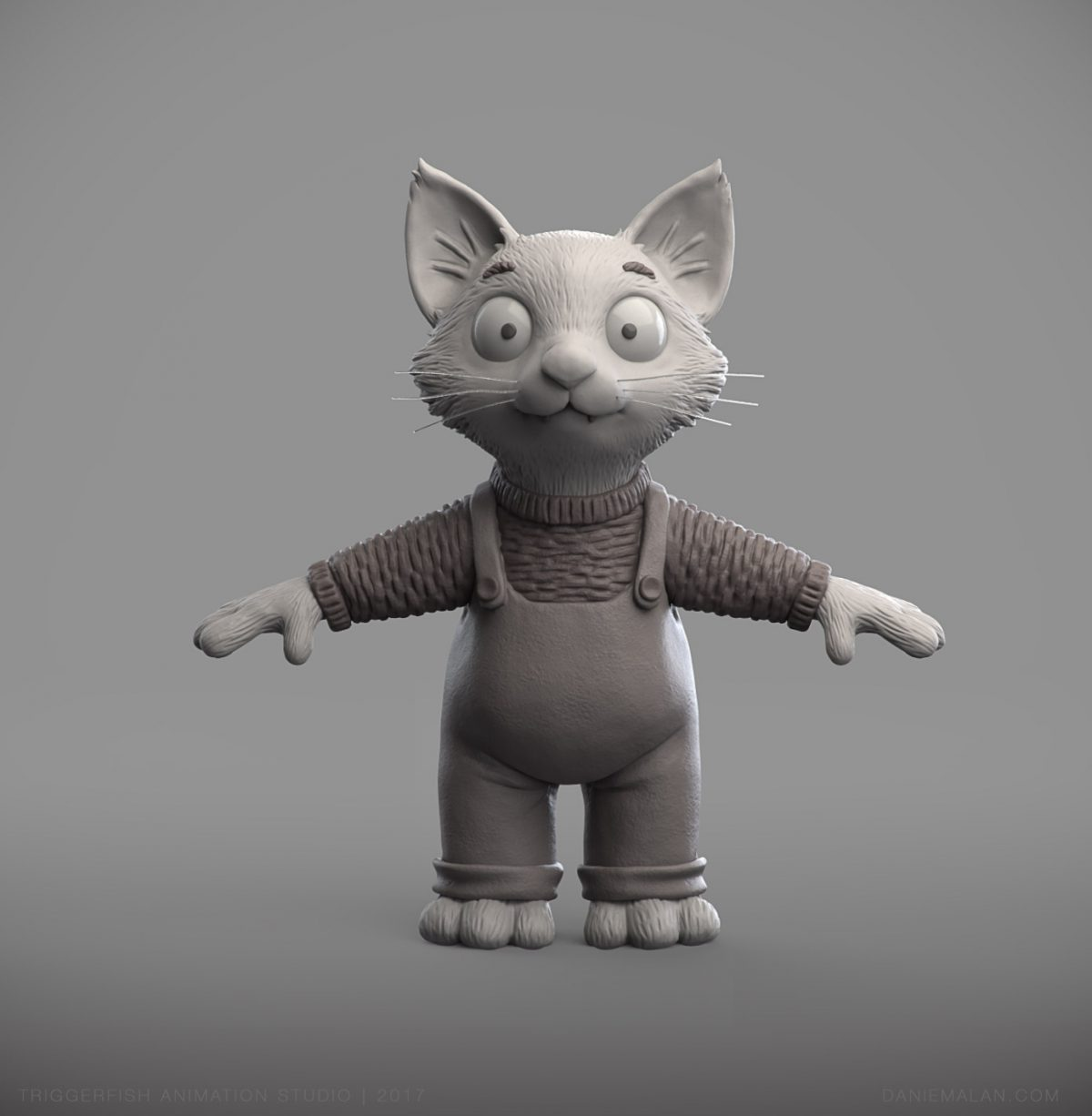 fox character sculpt in zbrush
